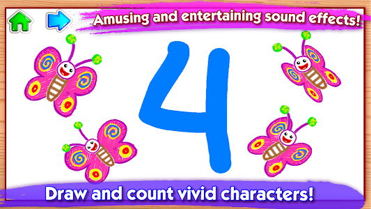 screenshot of 123 Draw🎨 Toddler counting for kids Drawing games version 1.2.4.4
