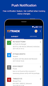 screenshot of ALL-IN-ONE PACKAGE TRACKING version 3.1.2183