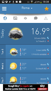 screenshot of 3B Meteo - Weather Forecasts version 2.1.9.6