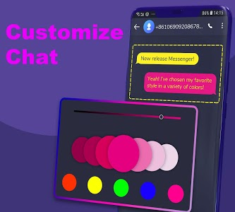 screenshot of Hii - SMS Messenger and caller app version 2.9.4