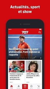 screenshot of 7sur7.be Mobile version Varies with device