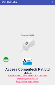 screenshot of ACPL FM220 Registered Device version 2.0.1