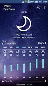 screenshot of ASUS Weather version 2.0.0.21_160219
