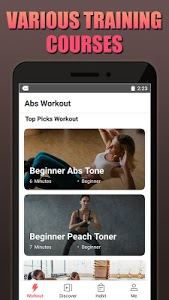 screenshot of Abs Workout - Home Workout, Tabata, HIIT version 2.1.8