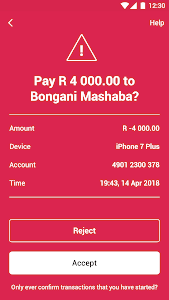 screenshot of Absa Banking App version Varies with device