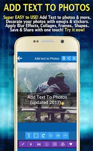 screenshot of Add Text to Photo App (2017) version 16.0