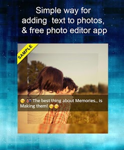 screenshot of Add Text to Photo App (2016) version 8.0