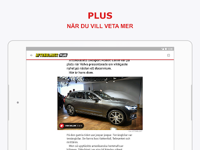 screenshot of Aftonbladet Nyheter version Varies with device