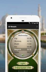 screenshot of Al-Moazin Lite (Prayer Times) version 3.0.955