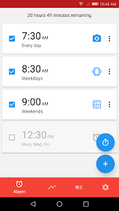 screenshot of Alarmy (Sleep If U Can) - Mission Alarm Clock App version Varies with device