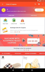 screenshot of AliExpress - Smarter Shopping, Better Living version Varies with device