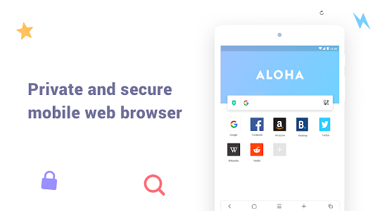 screenshot of Aloha Browser Lite - Private browser and free VPN version 1.3.0.0