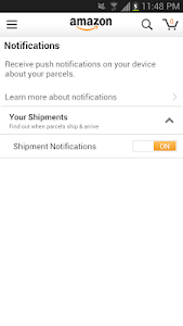 screenshot of Amazon version 5.0.1