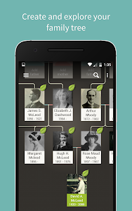 screenshot of Ancestry version Varies with device
