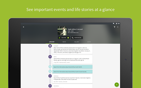 screenshot of Ancestry - Family History version 11.1.2406