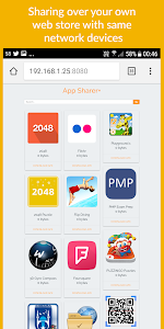 screenshot of App Sharer+ version 2.7.6