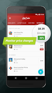 screenshot of AppSales: Paid Apps Gone Free & On Sale version 9.2