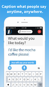 screenshot of Ava - Live Subtitles for All Your Conversations version 2.1.2
