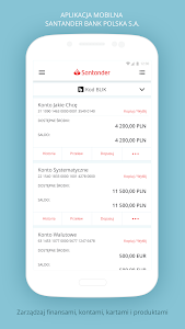 screenshot of Santander mobile version 5.5.0