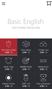 screenshot of Basic English for Beginners version 1.3.4