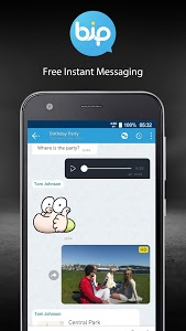 screenshot of BiP Messenger version 3.42.15