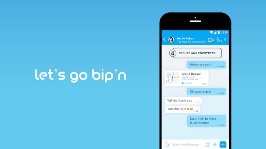 screenshot of BiP Messenger version 3.50.13