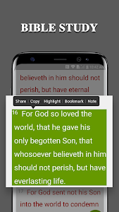 screenshot of Bible version 1.8.4