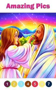 screenshot of Bible Coloring - Paint by Number, Free Bible Games version 1.2.5.1