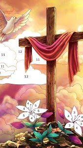 screenshot of Bible Coloring - Paint by Number, Free Bible Games version 2.0.1