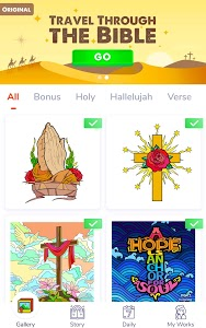 screenshot of Bible Coloring - Paint by Number, Free Bible Games version 1.2.2.8