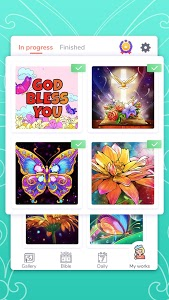 screenshot of Bible Coloring - Paint by Number, Free Bible Games version 1.5.1