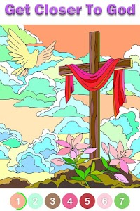 screenshot of Bible Coloring - Paint by Number, Free Bible Games version 1.2.2.7