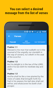 screenshot of Bible Promise Box - Verse of the day to share version Varies with device