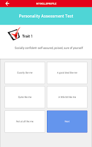 screenshot of Big 5 Personality Test version 1.5