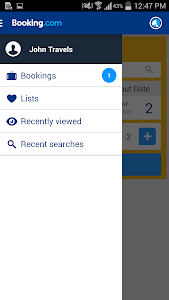 screenshot of Booking.com Hotel Reservations version 6.1