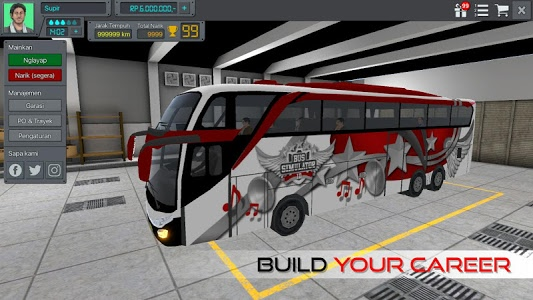 screenshot of Bus Simulator Indonesia version 2.9.2