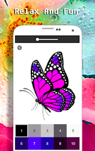 screenshot of Butterfly Coloring Book - Color By Number version 3.0
