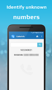 screenshot of CallerInfo: Caller ID, Number lookup, Number book version 3.7
