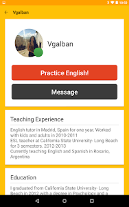 screenshot of Cambly - English Teacher version 2.8.6