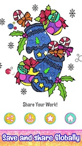 screenshot of Christmas Color by Number - Glitter & Crayon Paint version 2.5