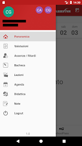 screenshot of ClasseViva Studenti version 1.7.4