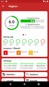 screenshot of ClasseViva Studenti version 2.5