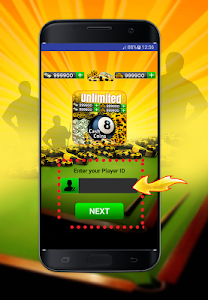 screenshot of Coins and Cash for 8 ball Pool Prank version 1.0
