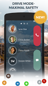 screenshot of Contacts, Phone Dialer & Caller ID: drupe version 3.049.00004-Rel