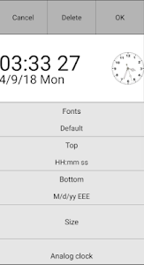 screenshot of Custom Clock (Date, Seconds Time Widget) version 1.09