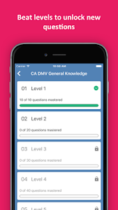 screenshot of DMV Permit Practice Test 2019 Edition version 1.9.5
