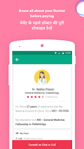 screenshot of DocsApp - Consult Doctor Online 24x7 on Chat/Call version 2.4.01