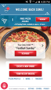 screenshot of Domino's Pizza USA version 3.5.0-B206
