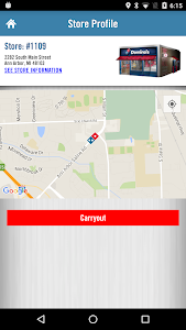 screenshot of Domino's Pizza USA version 3.6.0-B24