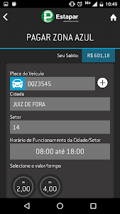 screenshot of Vaga Inteligente da Estapar version 3.7.850